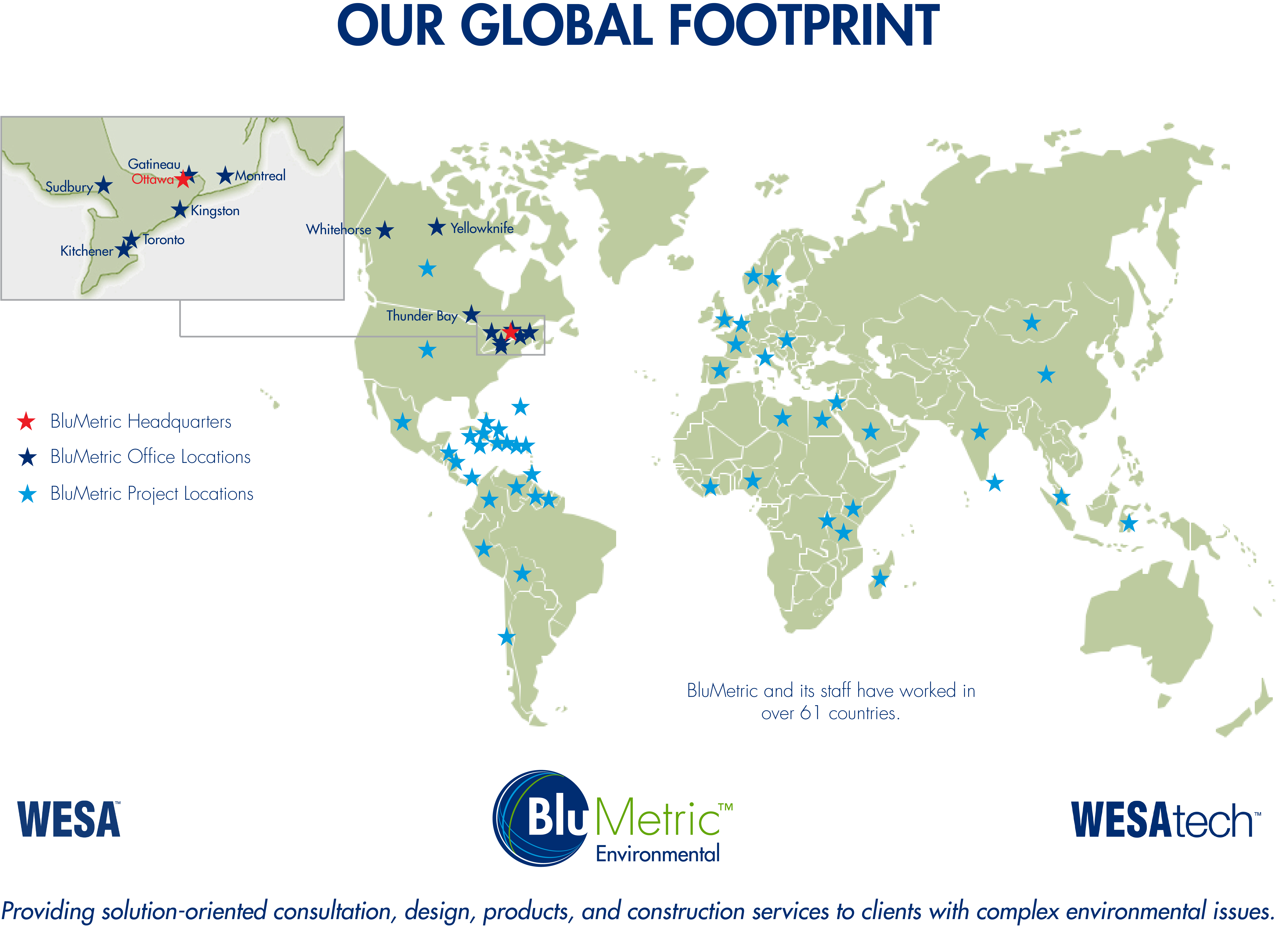 BluMetric Global Footprint